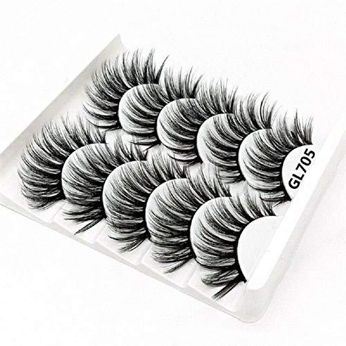KADIS Natural Long Black False Eyelashes Fake Eye Lashes Makeup Extension Tools Professional Individual Eye Lashes,13