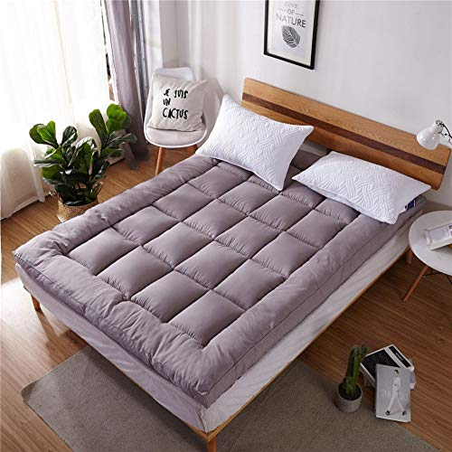 Einfarbig Verdicken Tatami matratze Anti-rutsch Faltbare japanische Matratze pad Quilten Atmungsaktiv Single Futonbett Matratze Für Student Schlafsaal etcF-120x200cm(47x79inch)