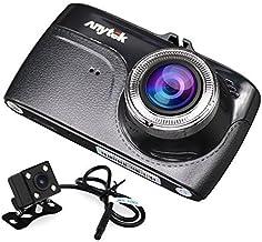 Tarjeta TF de 16 GB + Anytek@Car Dash Cam G67, HD 1080p 3,5 pulgadas pantalla táctil de doble lente para coche Dash Video cámara sony imx323 sin costuras Loop-cycle grabación, detección de movimiento
