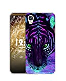 Sunrive Funda Compatible con Alcatel Idol 4/Blackberry Dtek50, Silicona Slim Fit Gel Transparente Carcasa Case Bumper de Impactos y Anti-Arañazos Espalda Cover(Q Tigre 2)