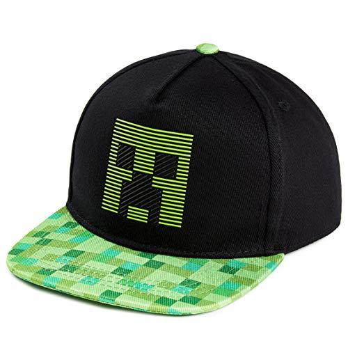 Minecraft Sonnenhut Kinder, Schwarz Trucker Cap Kinder mit Creeper Design, Einheitsgröße Verstellbare Kappe Jungen, Teenager Sommer Zubehör, Gamer Geschenke für Kinder