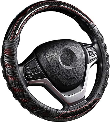 Milisente Funda para volante de coche, 37 – 38 cm, de piel,...