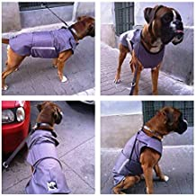 Boxer Winter dog coat with underbelly protection - Dog Jacket - Custom made Dog Raincoat, Waterproof/Fleece - MADE TO ORDER
