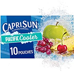 Ten 6 fluid ounce pouches of Capri Sun Naturally Flavored Pacific Cooler Mixed Fruit Juice Drink Blend Capri Sun Naturally Flavored Pacific Cooler Mixed Fruit Juice Drink Blend delivers fun refreshment with all natural ingredients Our ready to drink ...