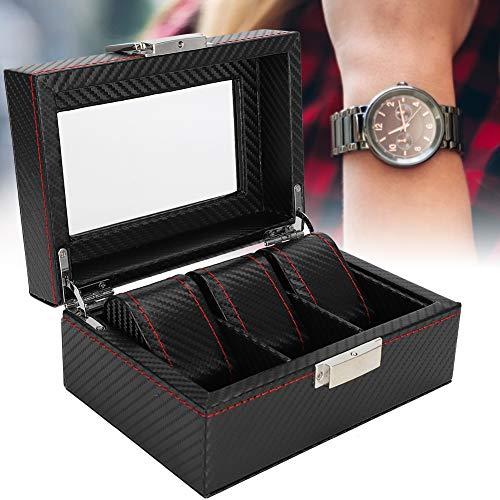 3Grids horloge vitrine, professionele prachtige horloge vitrine polshorloge organisator opbergdoos geschenkdoos