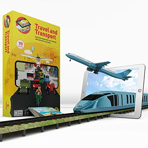 Aurodo Multi-Award Winning STEM Learning Game for Boys and Girls Age 3 to 10 | Learn 70 Vehicles and Machines with Augmented Reality & 200+ STEM Activities – 2019 Kids Product of the year Award Winner