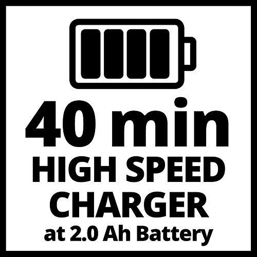 Einhell TE-CD 18 Li-i BL Power-X-Change - Taladro percutor inalámbrico 18V con 2 baterías (2Ah), cargador y maletín, sin escobillas, 2 velocidades, 60 Nm, luz LED