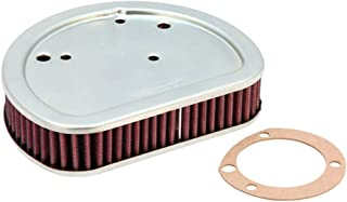 K&N Motorcycle Air Filter: High Flow Performance Air Filter Fits 2017 2018 2019 Harley Davidson 107 CI M8 Street Glide Road Glide Washable & Reusable OEM # Replacement 29400212 Air Filter HD-17171