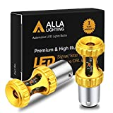 Alla Lighting 1157 7528 LED Bulbs 3000lm Extreme Super Bright Car Signal Reverse Stop Brake Tail Lights DRL BAY15D 2357 3496 2057, Red