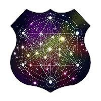 宇宙の神聖幾何学 ウォール アート メタル ハンギング ピクチャー ホーム デコレーション 12X12in シールド タイプ
