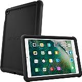 TECHGEAR Parachoques Funda para iPad 9.7' 2018/2017 (6ª/5ª generación) Resistente Antideslizante a Prueba de Golpes de Silicona Suave Funda + Protector de Pantalla - Funda Niños [Negro]