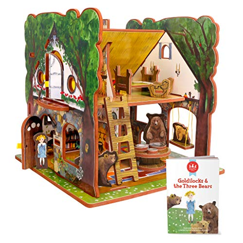 STORYTIME TOYS Goldilocks and The Three Bears 3D Puzzle - Book and Toy Set - 3 in 1 - Book, Build, and Play