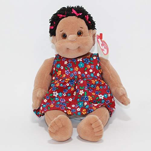 "Ty Beanie Kids Cutie 10"" African American Cutie Purple Dress with Flowers w/ Mint Tag"