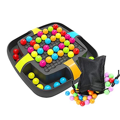 Rainbow Ball – Juego educativo para eliminar el juego de tablero de bolas arcoíris, juego de mesa de acrilonitrilo butadieno estireno para niños y niñas, 20,7 x 20,7 x 4,5 cm