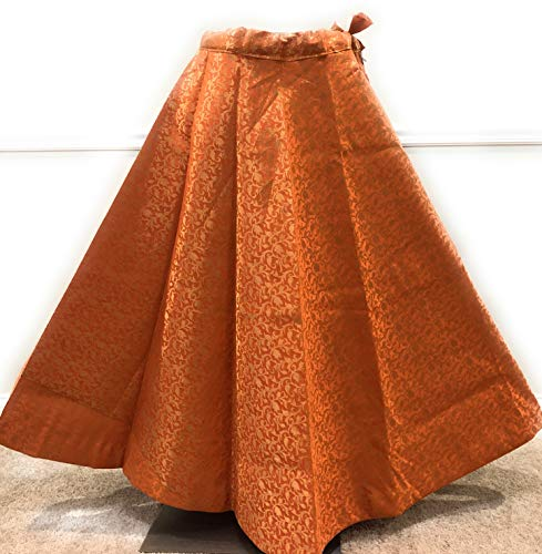 Brocade Lehenga Skirt/One Size-Fits upto waist 36 inches