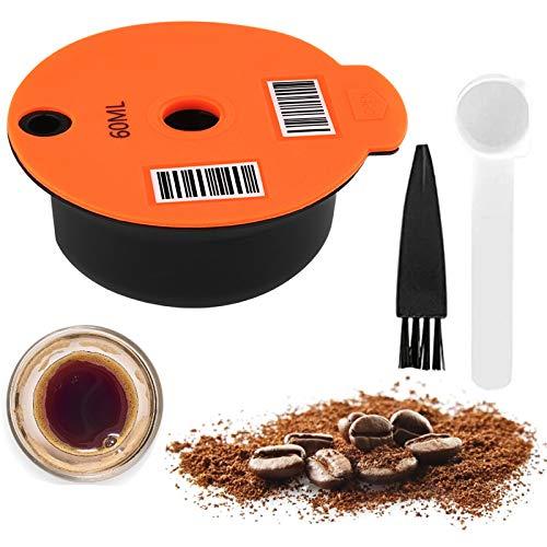 Kaffee Kapsel für Tassimo, Nachfüllbare Kaffeekapseln, Wiederverwendbarer Kaffeefilter, Kaffeepads für Bosch-s Kompatibel mit Tassimo-Maschinen Mit Lesbarem Barcode (60 ML)