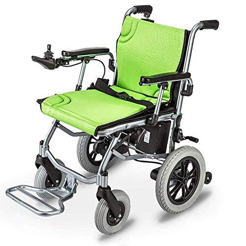NACHEN Elektrorollstuhl Leichtgewichtiger, offener/schnell zusammenklappbarer, leichtester Stuhlantrieb mit Elektroantrieb oder manuellem Rollstuhl, 12 Meilen Reichweite, grün