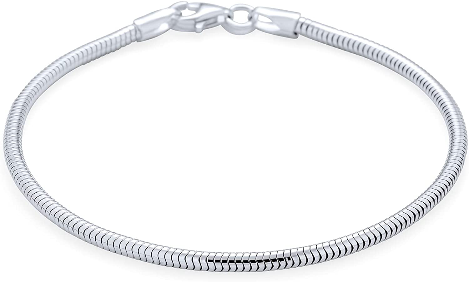 Price reduction Strong 925 Sterling Silver Snake Ranking TOP13 Chain Women Bracelet L Teen For