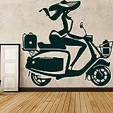 TYLPK Creativo Moto Dirt Bike MotorCycle Vinilo etiqueta de la pared para niños Home Motor Racing Extraíble Wall Decal Dormitorio Decoración Mural