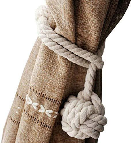 Bhartiya Handicrafts © TM Juego de Dos alzapaños de Cuerda de Yute náutico Ideales para decoración de Playa, Estilo Playa