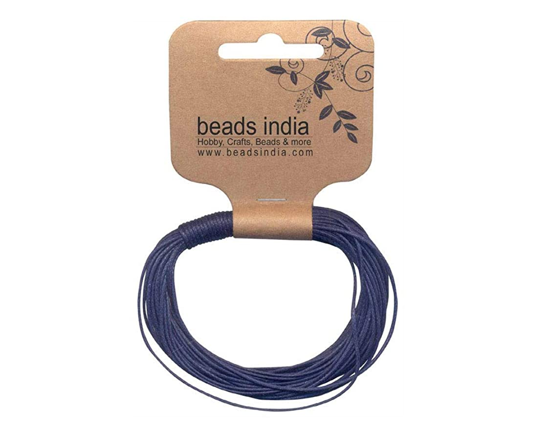 BEADS INDIA Waxed Cotton Cords Hobby Crafts Jewellery Essentials
