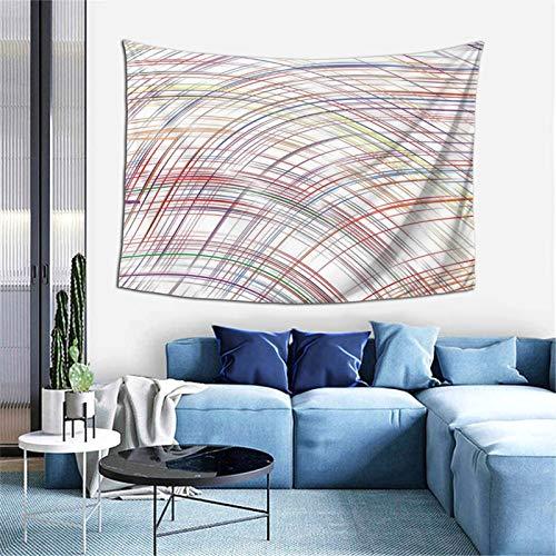 Resumen curvado rayas finas línea de color tapiz concepto para dormitorio sala de estar dormitorio decorativo 60x40 pulgadas