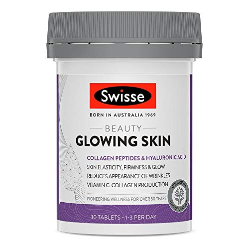 Swisse Beauty Glowing Skin Tablets | Premium Beauty Formula, Supports Collagen Production | 30 Tablets