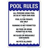 Pool Rules Sign, Pool Sign 10X14 Rust Free Aluminum, Weather/Fade Resistant, Easy Mounting...
