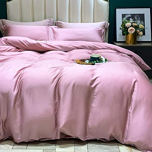 WAlAH Textiles del hogar,Tianshi Cuatro Series de Verano 60 Cama Desnuda Cama Individual Funda de sábana Color Seda-Polvo_Cama Ancha de 2.0 m