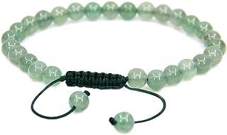 22,9/cm 6/mm 17,7 cm Bracelet r/églable tress/é en pierres rondes naturelles fait /à la main Unisexe