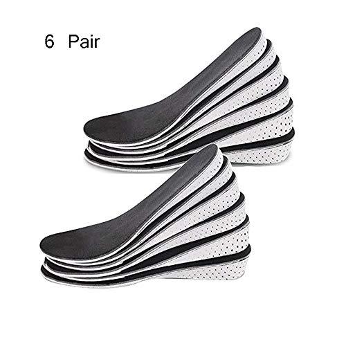 Höhe Erhöhen Schuhe Einlegesohle-Unsichtbar Erhöht Heel Lifting Einsätze Schuh Atmungsaktiv Memory Foam Höhe Erhöhen Einlegesohle Für Frauen 6 Paar,4Cm