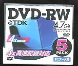 TDK DVD-RW4.7GB PCデ-タ用 DVD-RW47x5K
