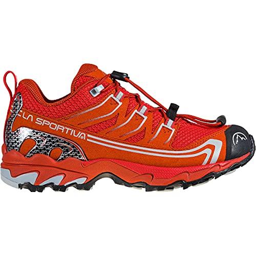 La Sportva Falkon Low 27-35, Zapatillas de senderismo bajas para niño unisex, Rojo (Goji Saffron), 37 EU