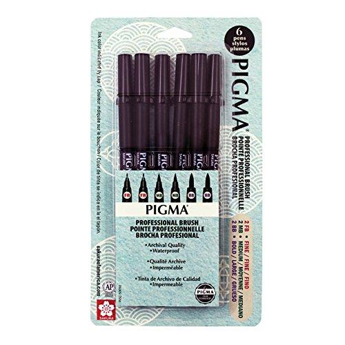 Sakura Archival Brush Pens (Black Ink)
