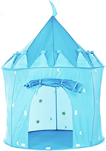 Wadwo Play Kids Tent Castle - Portable Kids Play Tent - Kids Pop Up Tent Foldable Into A Carrying Bag - Uso en Interiores y Exteriores