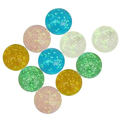 NAYAO Bolas de Cristal Luminosas de 10pcs 16mm, Bola Que rebota la Bola de Cristal de la máquina del Pinball pequeños Juguetes de Pat de Las canicas
