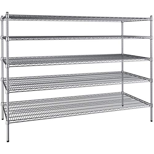 30 inch x 72 inch Chrome 5 Shelf Kit with 54 inch Posts. Storage Shelf. Garage Storage Shelves. Shelving Units and Storage. Food Storage Shelf. Storage Rack. Bakers Racks