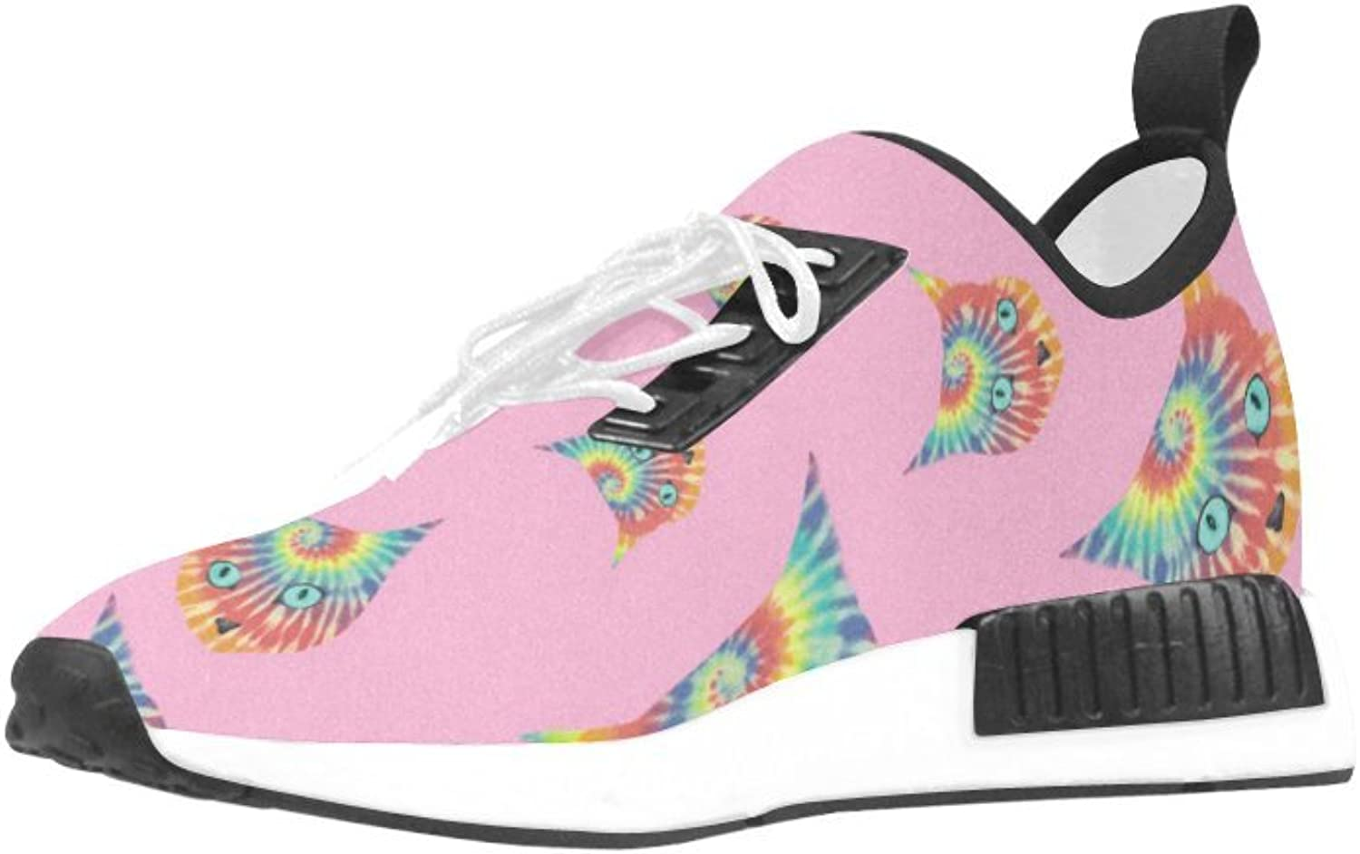 CERLYRUAN Rainbow Space Cat Mesh Cloth Breathable Woven Leather Insole Running shoes for Women