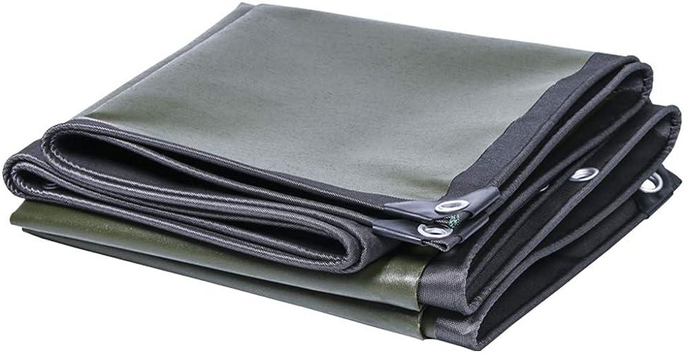 YANGJUN Bache Toile étanche écran Solaire Imperméable Coupe-vent Résistant à L'usure épaissir De Plein Air, 0.5mm (Couleur   noir+vert, taille   3.8x6.8m)