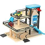 JVSISM Car Track Lifts Holzschiene Parkplatz Kompatibel mit Brio Holzschiene Kindertr?Gheit Hand Schiebespielzeug