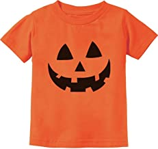 Jack O' Lantern Pumpkin Face Halloween Costume Toddler Infant Kids T-Shirt