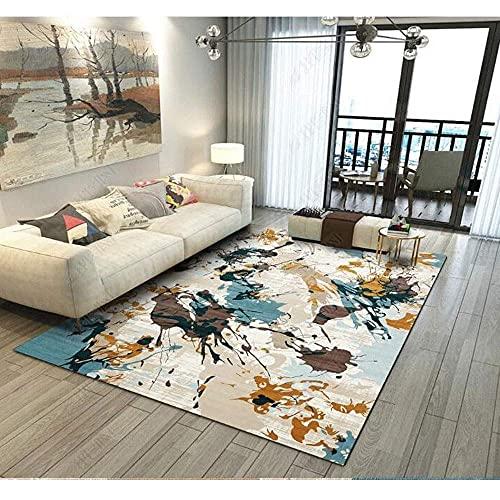 Teppiche Teppich-Spray-Tinte Abstrakt Nordic Modern Minimalist Linie Wohnzimmer Korridore Schlafzimmer Schlafzimmer Bett Kristall Samt Rechteckige rutschfeste Matte Polyesterfaser (Gr??e:160 * 200 cm)