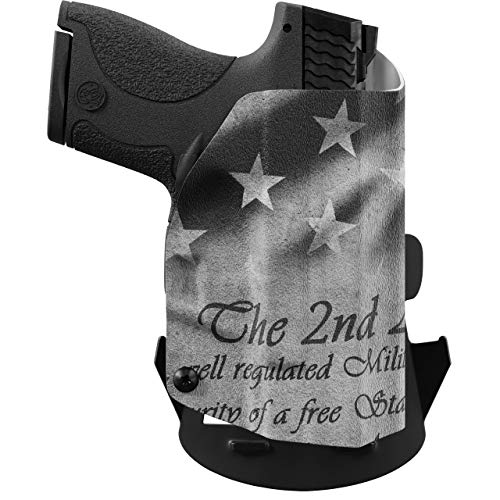 We The People Holsters - 2nd Amendment - Right Hand - OWB Holster Compatible with Glock 43/43X w/Streamlight TLR-6 Light/Laser