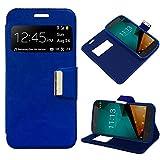 iGlobalmarket Funda Flip Cover Tipo Libro con Tapa para Vodafone Smart Prime 7 Liso Azul