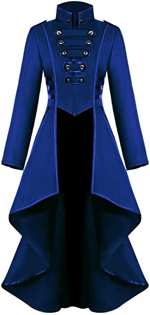 Ranking TOP2 Vintage Womens Steampunk Victorian Swallow Trench Max 58% OFF Coat Long Tail