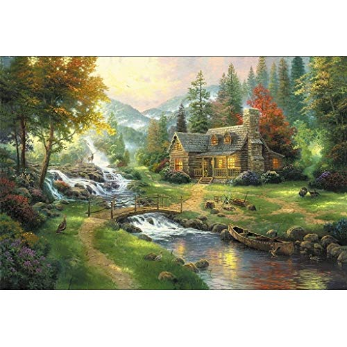 Smklcm Exquisite Creativiteit Cottage On Riverside puzzel, Perfect Cut & Fit, 300/500/1000/1500/2000/2700/3000/5000 Pieces Boxed Puzzels Speelgoed Game Art schilderen for volwassenen & Kids Gifts