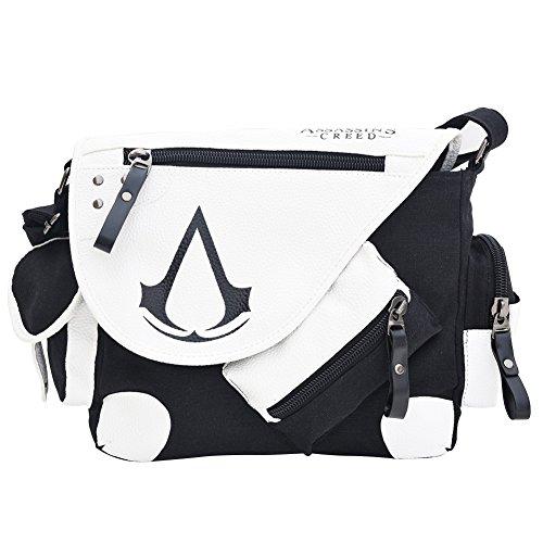 Barbariol Assassin's Creed Canvas Shoulder Bag,Anime, No Color, Size No Size