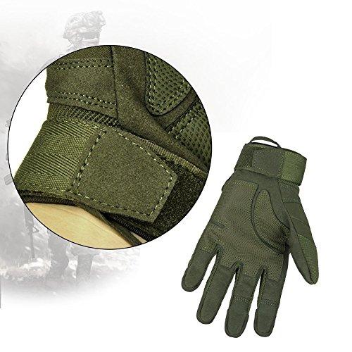 Limirror Herren Taktische Handschuhe Handschuhe Fahrradhandschuhe Motorrad Handschuhe outdoor sport Handschuhe Fitness Handschuhe Army Gloves Ideal für Airsoft, Militär, Paintball, Airsoft, Jag (Grün, L) - 5