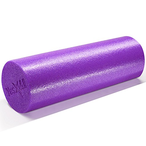 Yes4All Premium High Density Extra Firm Foam Roller - PE Roller for...