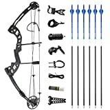 SHARROW Archery Compound Bows Kit 30-55lbs Adjustable Adult HellBow Aluminum Right Hand